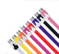 2014 Fashionable flat noodle usb 2 0 cable for tablet android made in china
