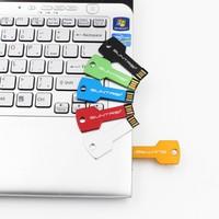 usb flash drive USB 2.0 Pen Drive 32gb 16gb 8gb 4gb pendrive waterproof Metal Key Memory Stick