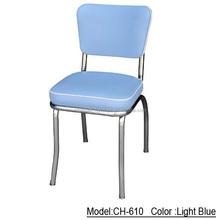 Ch610 cor azul antigo sala de jantar restaurante usado metal cadeira de jantar