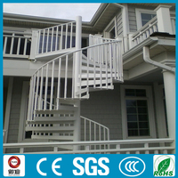Outdoor wrought iron spiral stairs