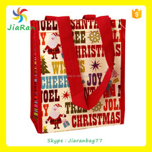 Popular Christmas PP laminated woven shopping bag for sale