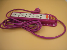 New style two USB port 5 way South American Socket & Power Strip