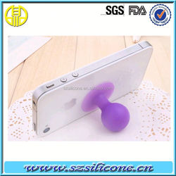 2015 Favorites Colorful non-toxic strong adhesive silicone suction cup,double-sided silicone phone sucker