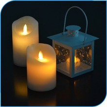 Made In China 2015 Wax Led Candle Light With Realistic Flame