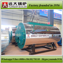 Fire tube 3 pass industrial gas hot water boiler with chimney