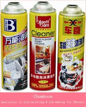 Empty Aerosol Tinplate Can for Car Care