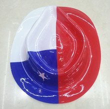 Party suppliers Cheap plastic party gangster hat of Chile flag for decoration