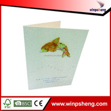 High Qulaity Glitter New Year Greeting Card For New Year 2015