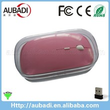 hot sell custom surface 2.4ghz wireless mouse with crystal box for promotion