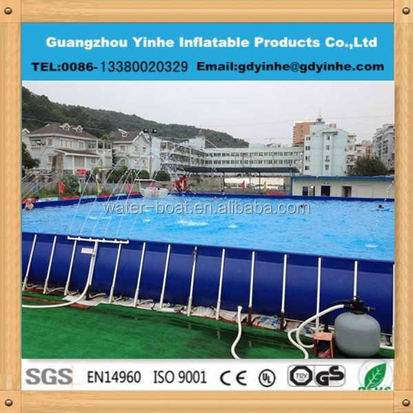 2015 cheap outdoor rectangular metal steel frame swimming for Cheap above ground pools for sale