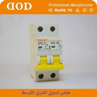 DX with new RCCB 2P AC Type MCB mini circuit breaker breaking capacity mini circuit breaker