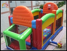 inflatable basketball playground, Inflatable Sport Bouncer Zone With Basketball Hoop