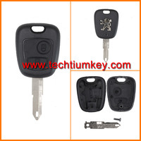 Techtium 2 button remote key blank case shell for Peugeot 206,207 remote key blank control replacement with logo