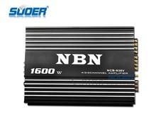 Suoer high power 1600w car amplifier 4/3/2channel car audio amplifier