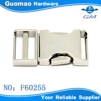Side release buckle high quality metal bag clip lock