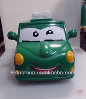 plastic mini bus shaped coin bank,plastic money boxes OEM