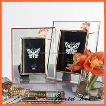2015 Luxury crystal glass photo frame for wedding gift