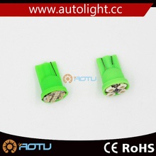 Factory direct sale cob T10 4SMD 2835 strobe car led bulb green color