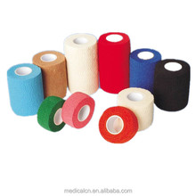 Colorful self sticky non-woven cohesive elastic bandage,medical cotton gauze bandage