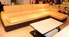 living room furniture leather sofa bed home designs J831