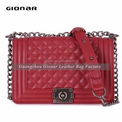 Fashion Handmade Lady Brand PU Leather Bag / Ladies Name Branded Leather Handbag
