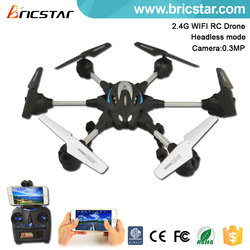 Soft rubber painting 2.4G quad copter with camera in screen.