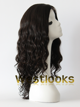 Finest Quality Elegant Long Human Hair Jewish Lace Front Wig