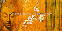 Pure Handmade Famous Golden Buddha Oil Painting on Canvas for Sale