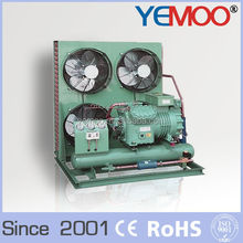 Hangzhou Yemoo bitzer R22 r404a r507c 5hp air cooled condensing unit come with matching air cooler
