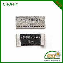 Silver Long solid washable elegant cloth woven labels