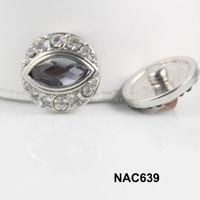 China alibaba new women rhinestone snap accessory free sample NAC639