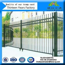 Colorful double anti-corrosion rectangular tube fencing