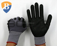 Grey nylon coated glove nitrile industrial glove
