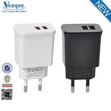 Veaqee high power 5v 3.1a dual usb wall charger for iphone5