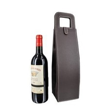 High quality portable pu leather wine Box