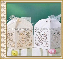 Wholesale laser cut wedding favors candy boxes