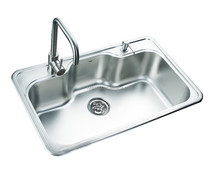 Franta 19 Gauage 31 inches steel drop-in kitchen single bowl sink