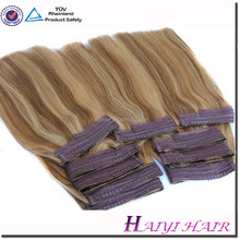 Hot selling top quality factory wholesale double drawn halo extension remy