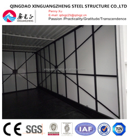 Flat pack insulation folding container house