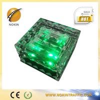 Best seller beafutiflu 5 colors Glass LED Solar Powered Auto Brick Light