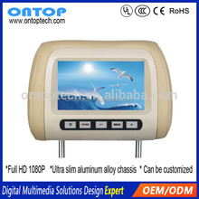 Car Back Seat Player 7/8/9/10/12/13/15 inch Taxi Advertising Equipment Headrest Monitor