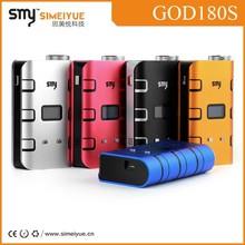 smy god 180 mod personal vaporizer pen 180w god mod updated vaporizer Smy God180-S 220w box mod with USB port hot sale