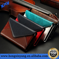 Flip wallet case for Samsung Galaxy S6/S6 Edge Genuine leather material Envelope design