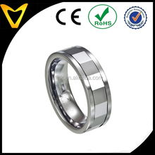 Men's 8mm Comfort Fit new design wedding band with Flat Profile and High Polished Edges Mirrored Tungsten Spinner Ring