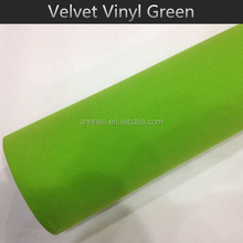 1.52*15m Green Vehicle Wrapping Velvet Film for Cars