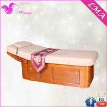 2015 New Style Wholesale beauty facial bed wooden massage table for beauty salon equipment