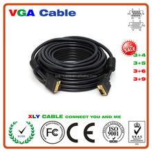 Hot Sale portable free power fashion HD15 Male to HD15 Male Types Of Vga Cable