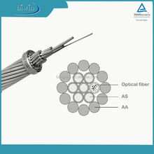 24 Cores Optical Fiber Composite Overhead Ground Wire OPGW Cable