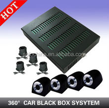4ch Full HD 4Mini Cameras 360 Degree Full View Vehicle mobile DVR with GPS Function Car Security System Device