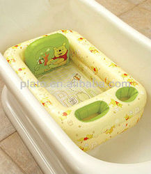 Hot Selling Inflatable Kids Safety Bathtub, Baby Safety Pool With Holder